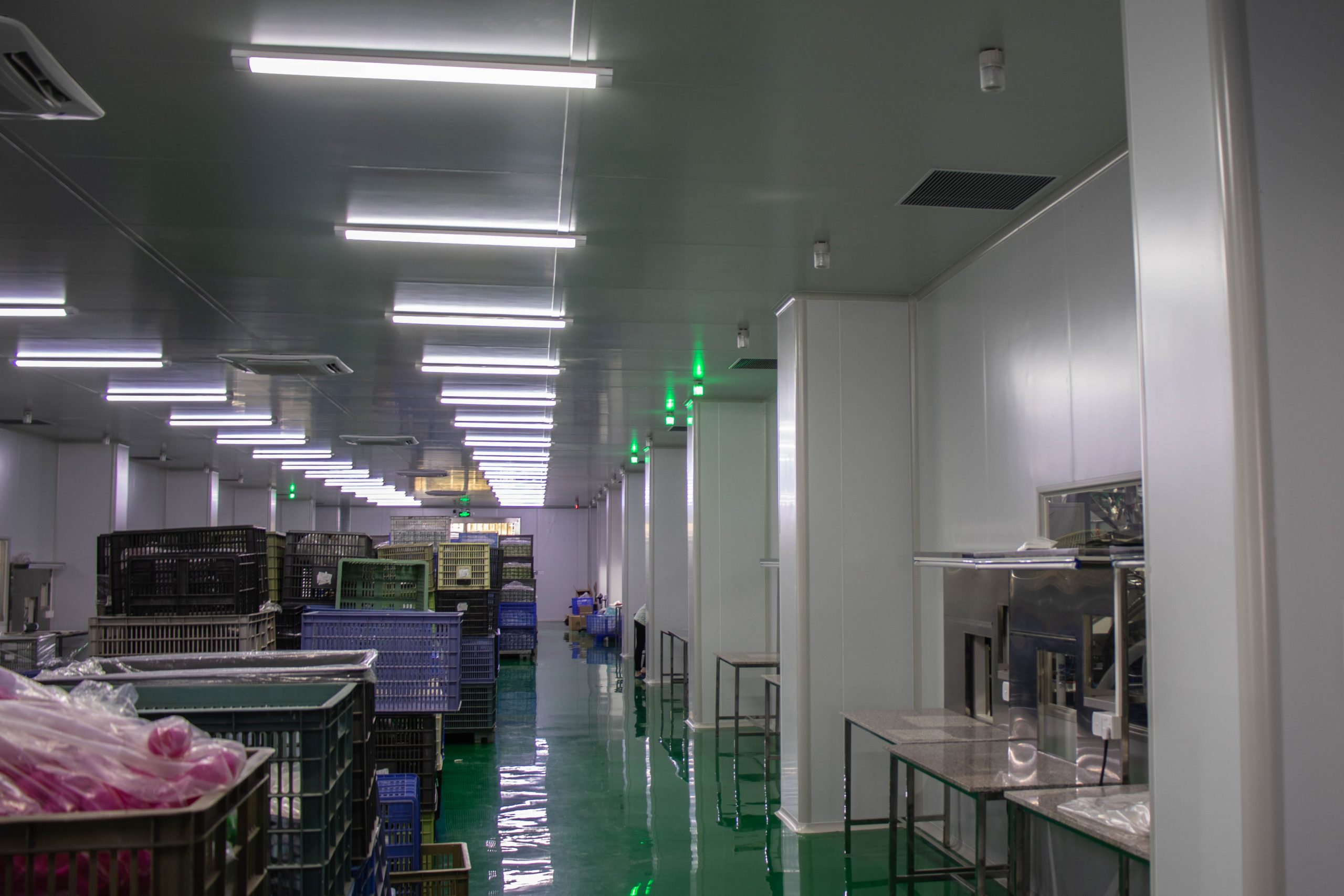 Our dust-free injection molding room.