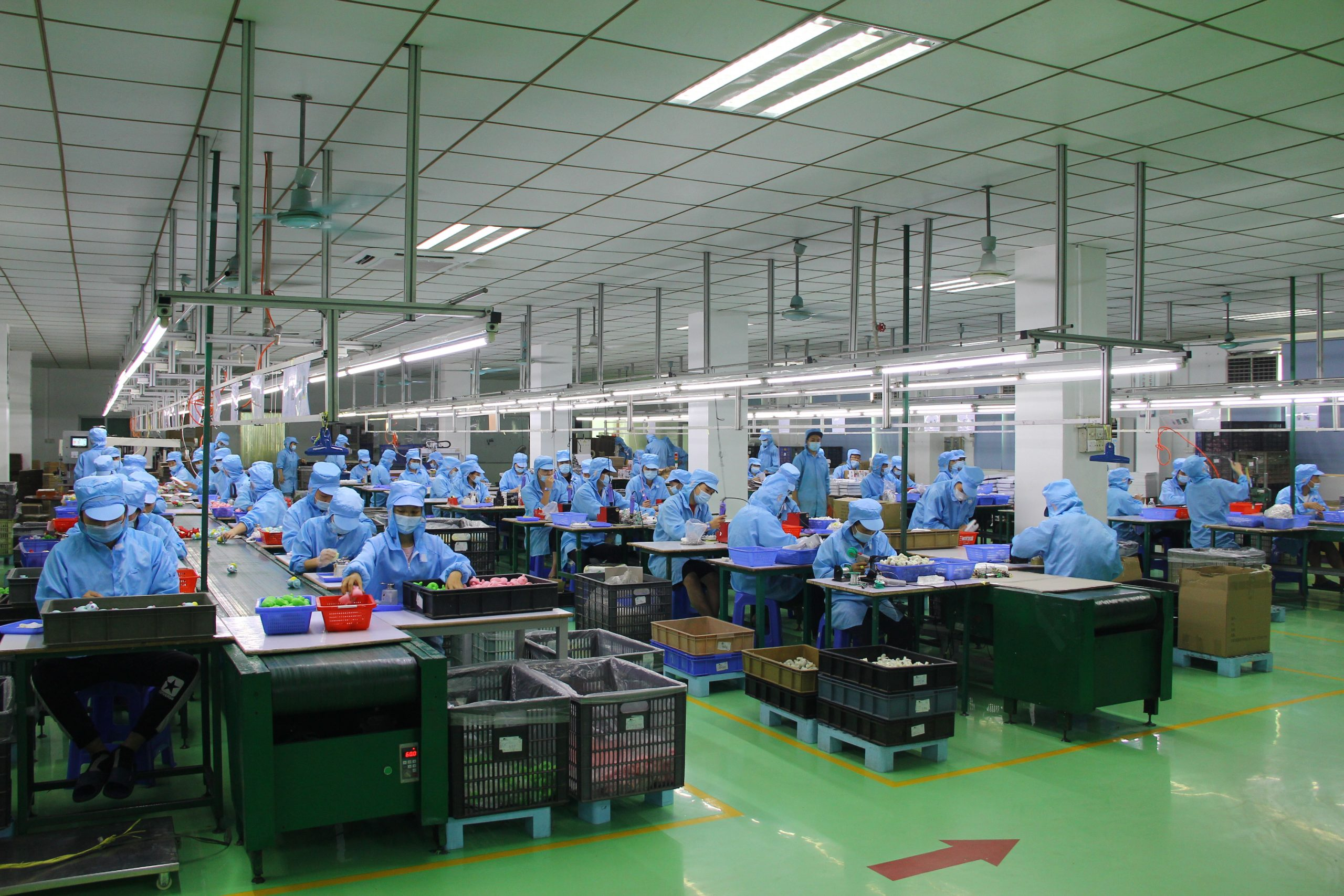 Our dust-free assembling and packaging department.