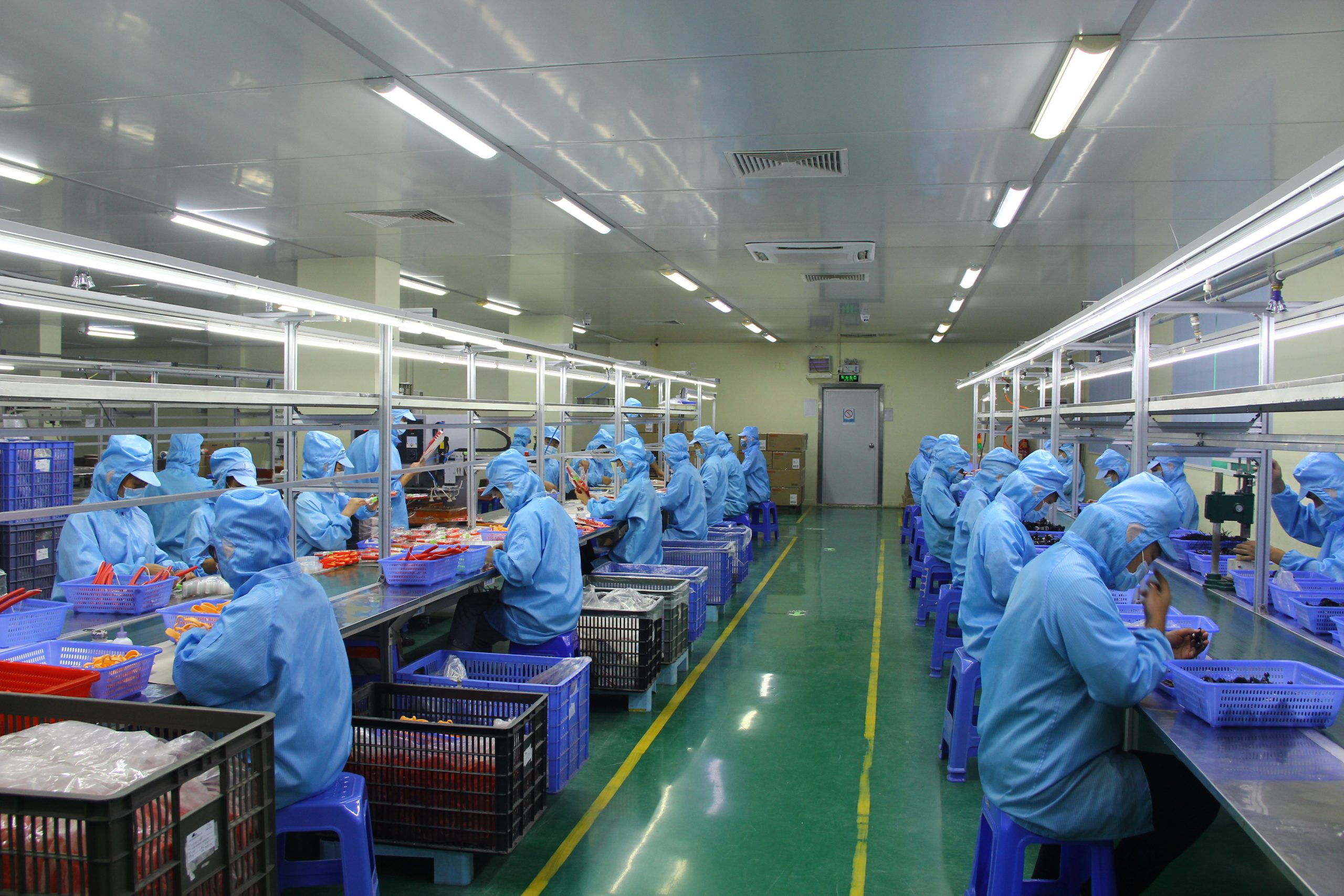 Our food grade dust-free assembling and packaging department.